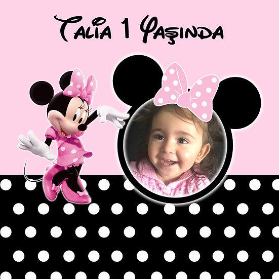 Minnie Mouse Temalı Afiş 8
