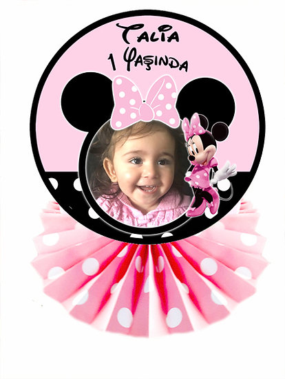 Minnie Mouse Doğum Günü Masa Dekor Süs