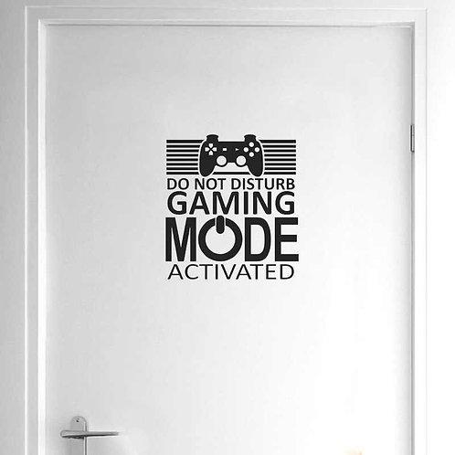 Gaming Mode Gamer Duvar Sticker Çıkartma