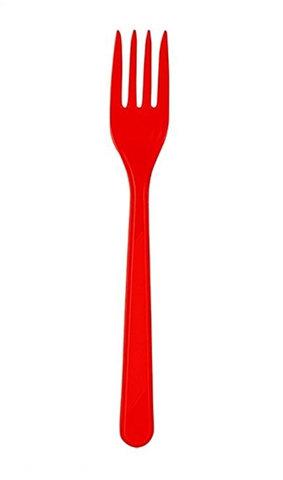 Kırmızı Plastik Çatal