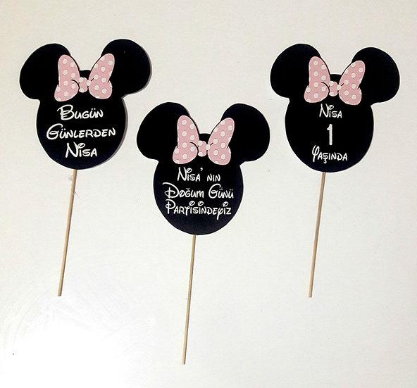 Minnie Mouse Doğum Günü Konuşma Balonu