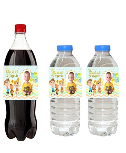 Kukuli Temalı Su ve Meşrubat Etiketi