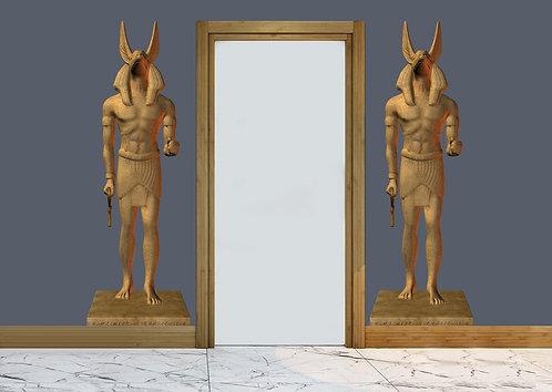 Antik Mısır Kapı Girişi Sticker 2