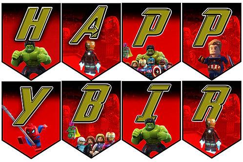 Avengers Doğum Günü Flama Bayrak