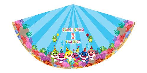 Baby Shark Temalı Doğum Günü Parti Şapkası