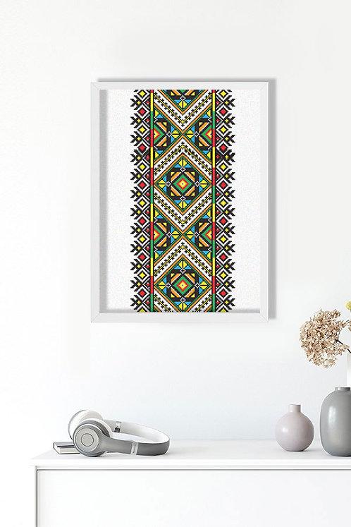 Arabesk Desen Tablo Poster Kanvas