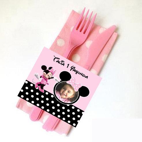 Minnie Mouse Doğum günü Peçete Sargısı