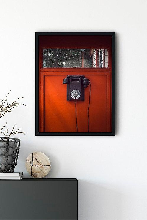 Kırmızı Telefon Kulübesi Tablo Poster