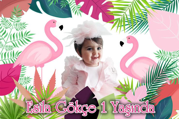 Flamingo Pembe Temalı Hediyelik Magnet