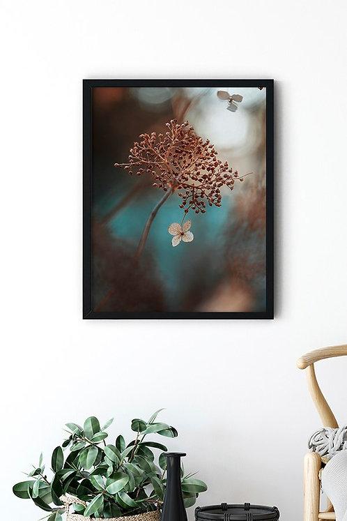 Krem Çiçek Tablo Poster