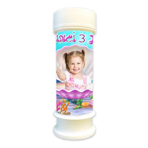 Deniz Kızı Ariel Temalı Doğum günü Hediyelik Köpük