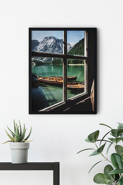 Göl Manzarası 4 Tablo Poster