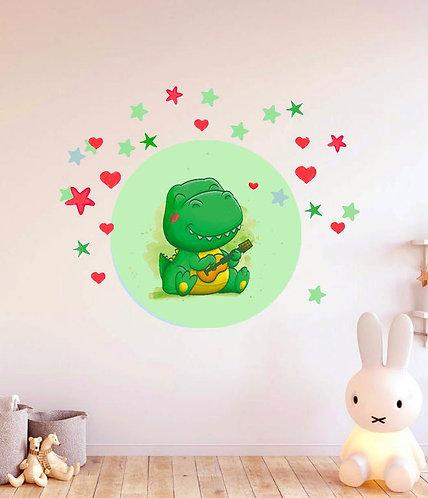 Sevimli Dinazor Duvar Sticker Çıkartma