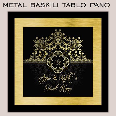 Kişiye Özel Metal Baskılı Tablo Pano Elegance