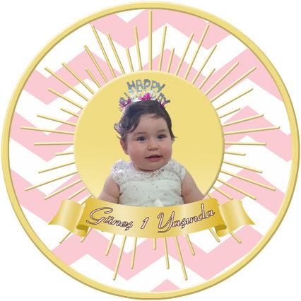 Güneş Temalı Doğum Günü Asma Dekor Süs Dönkart