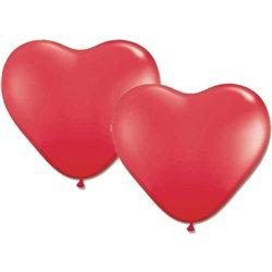 Düz Kırmızı Kalp Balon