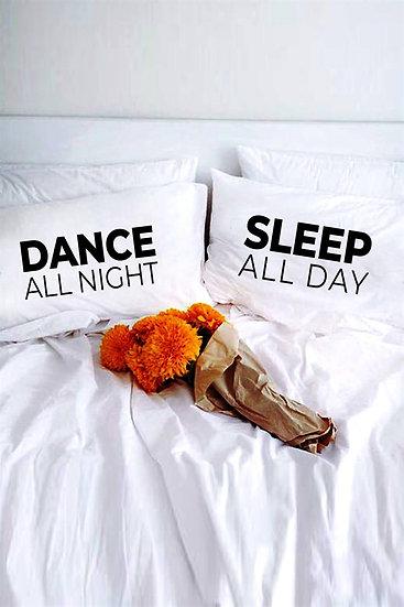 Sabaha Kadar Dans Kişiye Özel 2li Yastık Kılıfı