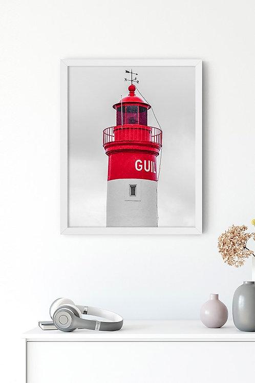 Kırmızı Deniz Feneri Tablo Poster