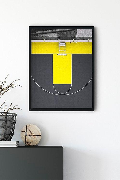 Basketbol Sahası Tablo Poster