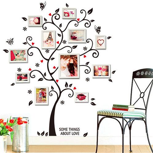 Fotoğraf Ağacı Ev Duvar Sticker Çıkartma 2