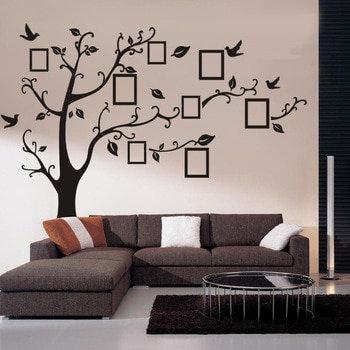 Fotoğraf Ağacı Ev Duvar Sticker Çıkartma