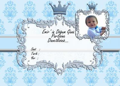 Prens Doğum Günü Davetiye