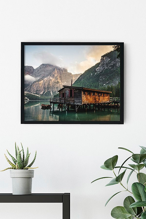 Göl Manzarası 7 Tablo Poster