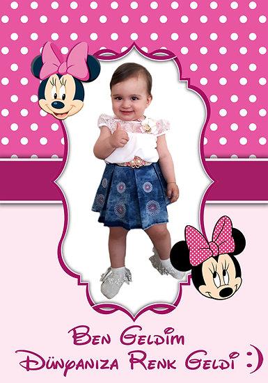 Minnie Mouse Temalı Afiş 6