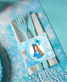 Frozen Karlar Ülkesi Temalı Doğum günü Peçete Sargısı