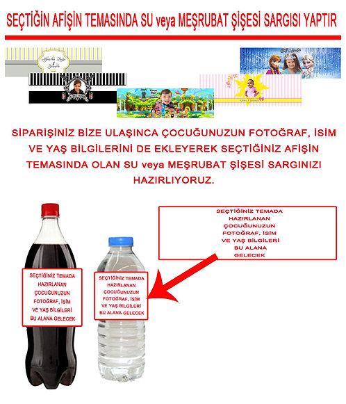 Temalı Su ve Meşrubat Etiketi