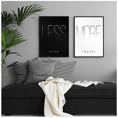 Less Work 2li Tablo Poster Kanvas Seti