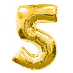 5 Rakam Gold Folyo Balon