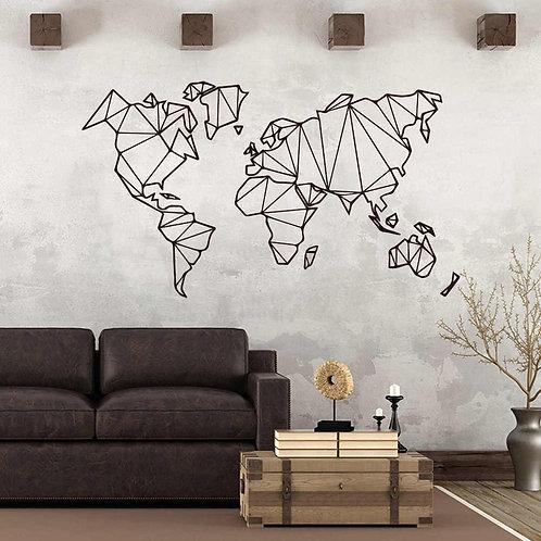 Dünya Haritası Duvar Sticker Çıkartma 2