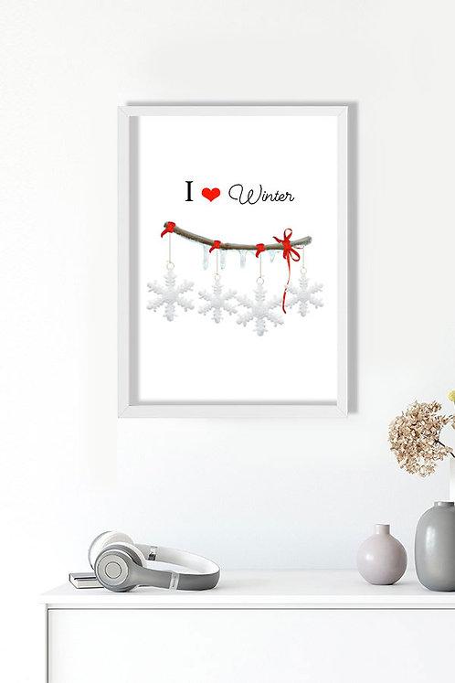 Kışı Seviyorum Tablo Poster Kanvas