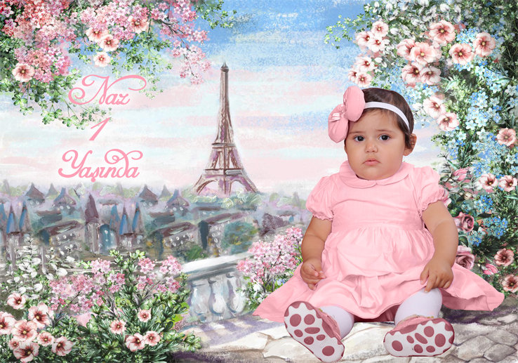 Paris Eiffel Temalı Afiş