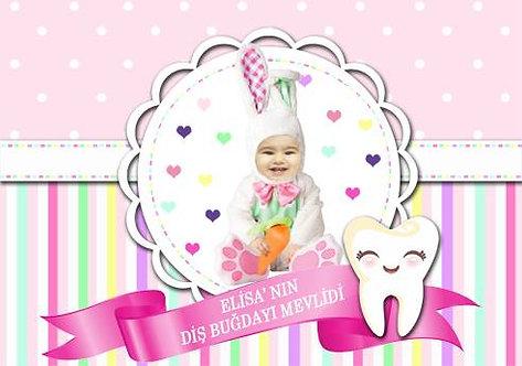 Diş Buğdayı Kız Çocuk Temalı Afiş