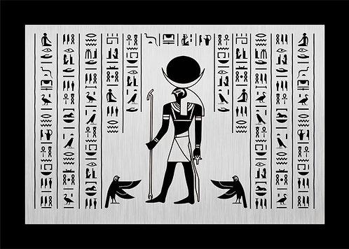 Antik Mısır Horus Metal Baskılı Tablo