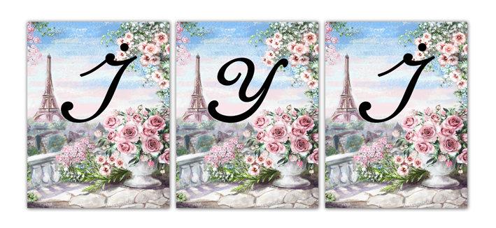 Paris Eiffel Temalı Flama Bayrak