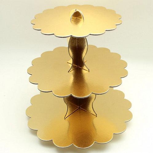 Gold Cupcake Standı