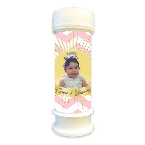 Güneş Sarı Pembe Temalı Doğum günü Hediyelik Köpük