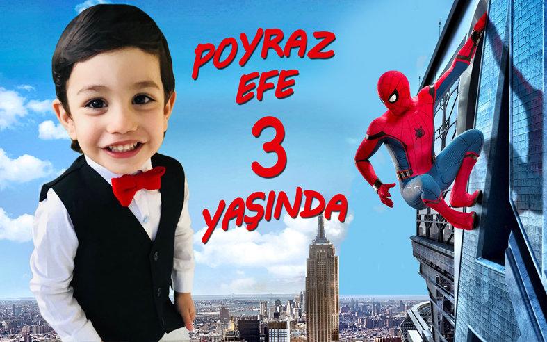 Örümcek Adam Spiderman Temalı Afiş 2