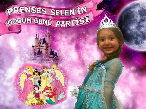 Disney Prensesleri Temalı Afiş