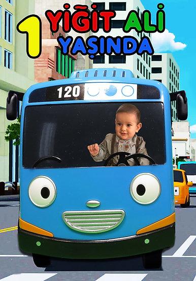 Tayo Otobüs Doğum Günü Karşılama Panosu