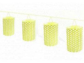 Sarı Puantiyeli Sıralı Asma Fener Süs
