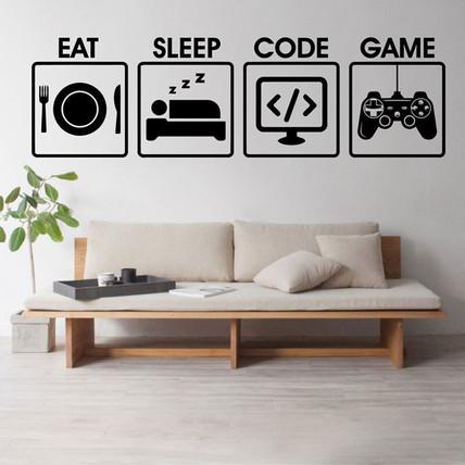 Yiyin-uyku-oyun-kodu-vinil-sanat-kartmas