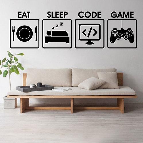 Gamer Duvar Sticker Çıkartma 11