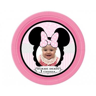Minnie Mouse Temalı Doğum günü Tabak