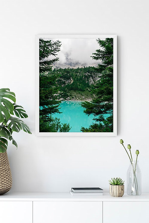 Göl Manzarası 5 Tablo Poster