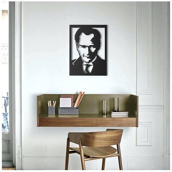 Mustafa Kemal Atatürk Duvar Ahşap Dekor