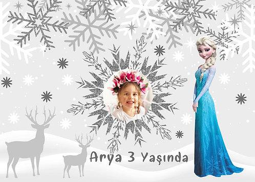 Elsa ve Kış Temalı Afiş